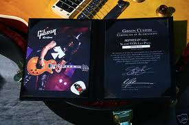 Gibson Slash Les Paul Standard VOS Aged 2008 certificate