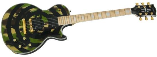 Gibson Camo Bullseye Les Paul custom