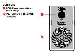 Spesifikasi MXR ZW90 Wylde Phase Pedal (Efek Gitar Zakk Wylde)