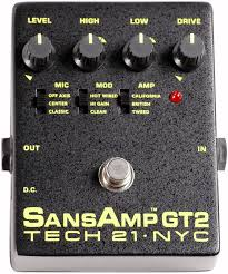 Tech 21 Sansamp GT-2 (3 Sound) Guitar Preamp
