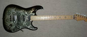 Fender Stratocaster Richie Sambora Signature black grafis
