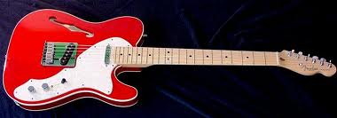 fender telecaster Crimson Red Thinline.